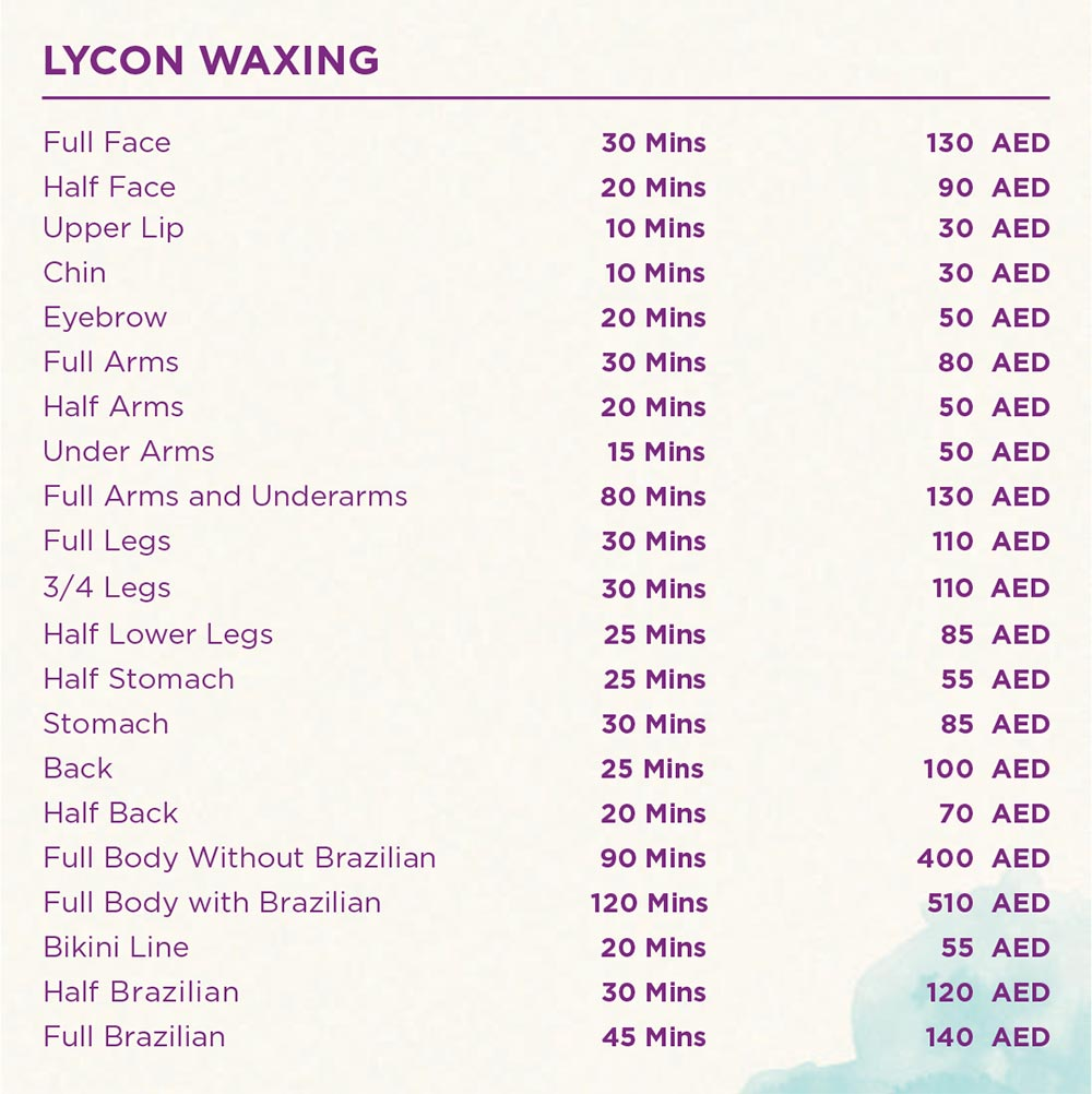 Full face Waxing - Full Body Waxing - Lyon Waxing - Full body with brazilian
